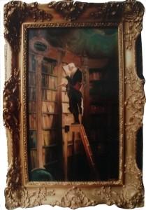 Der Bücherwurm, um 1850